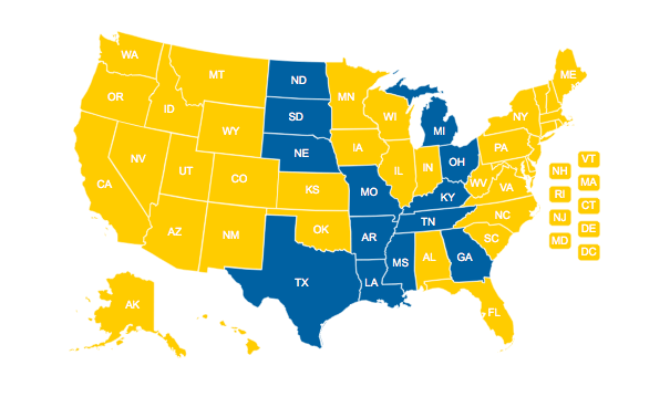 U.S. states and marriage rights