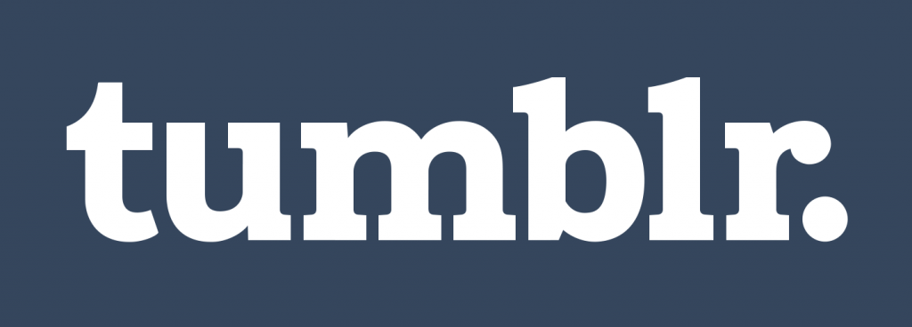 tumblr logo blue background white text
