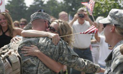 military wife and husband