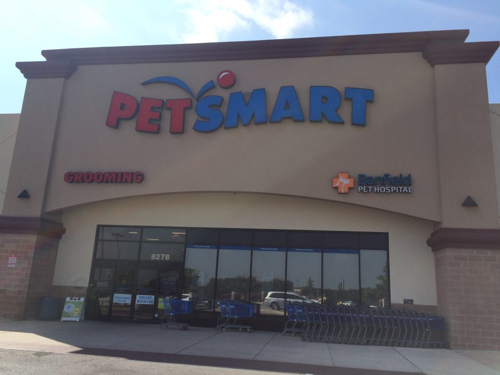 outside of petsmart store