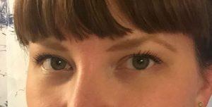 girl with old eyelashes