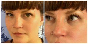 girl with long eyelashes