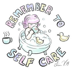 remember to self-care in your bathroom