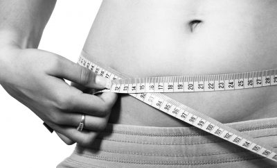belly with measuring tape