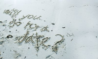 asking for a date written in sand