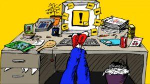 procrastination at a coputer
