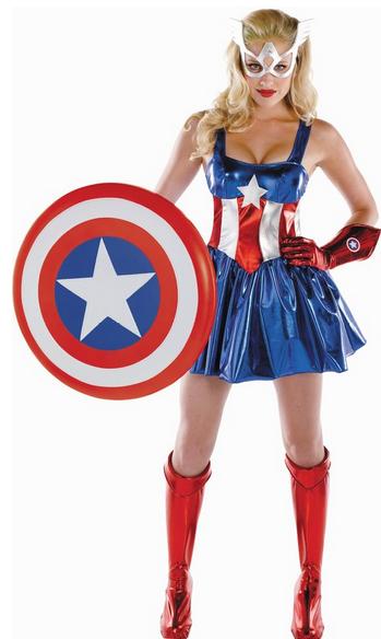 female captain america halloween costume