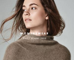 Girl wearing a naadam cashmere fall/winter 2015 sweater
