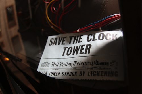 back to the future clock tower movie