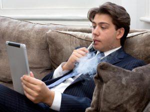 man-using-an-e-cigarette
