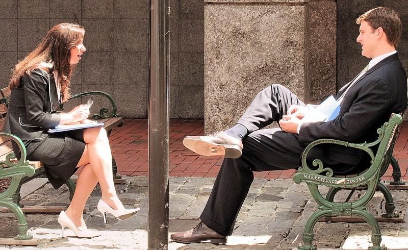 couple sitting outside