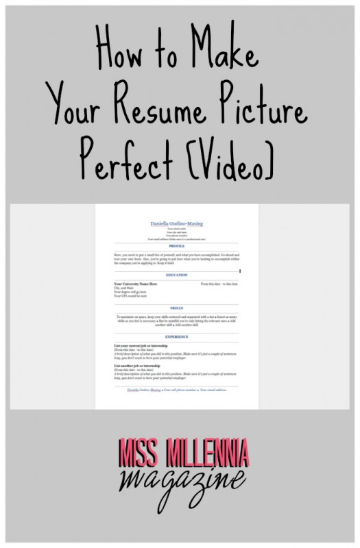 How to Make Your Resume Picture Perfect [Video]