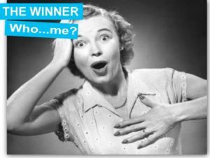 surprised woman winner