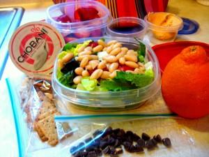 beans and chobani yogurt healthy lunch