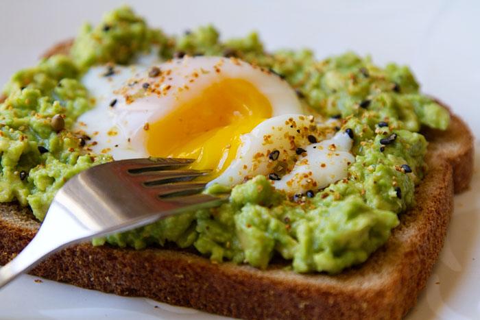 egg and avocado on toast