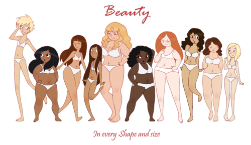 beauty comes in all shapes and sizes body positivity