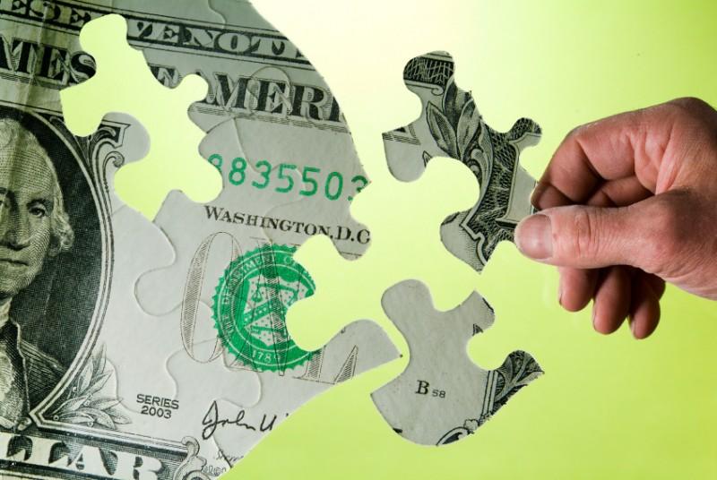 money as a puzzle piece