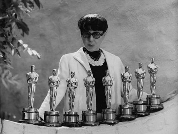 Edith-Head-with-her-eight-Oscars one of the successful woman