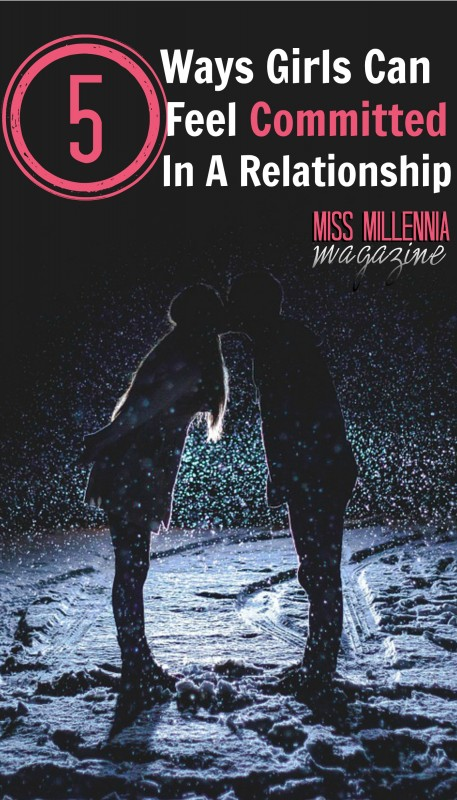 ways of showing commitment in a relationship