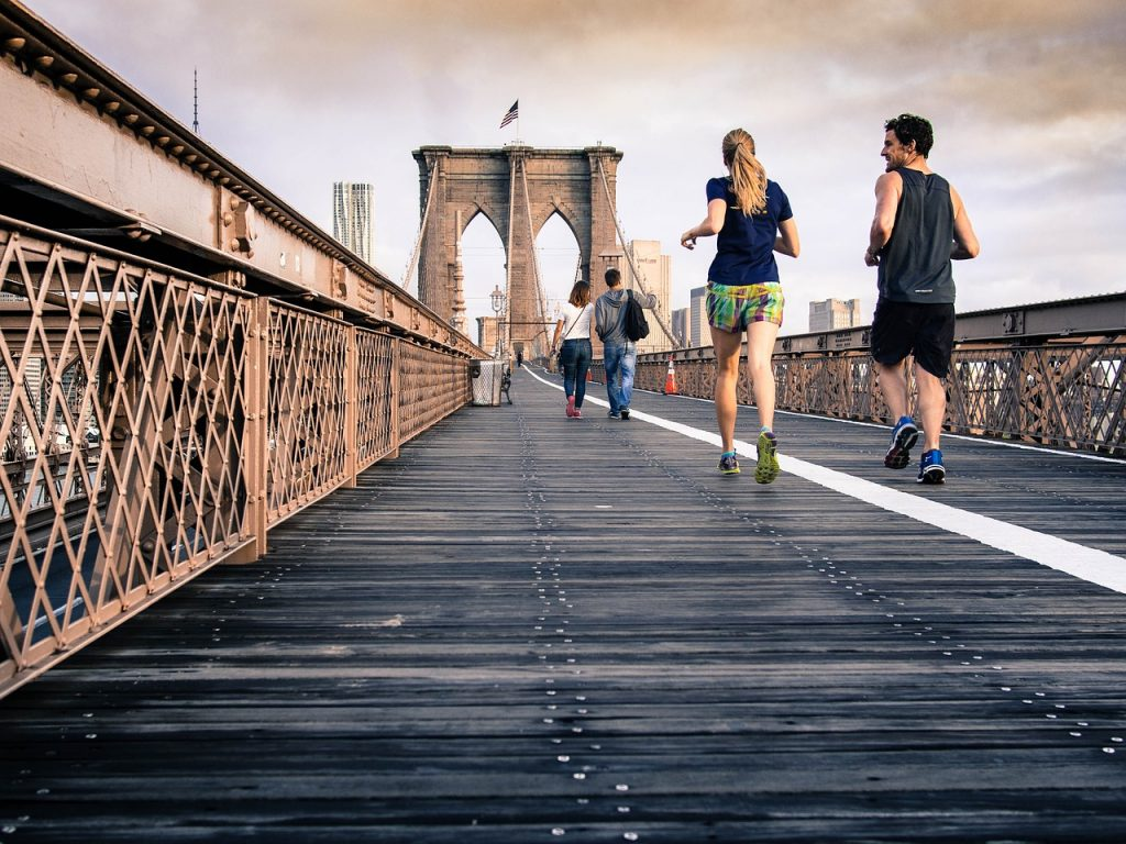 achievement in running Brooklyn bridge