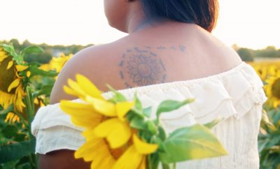 sunflower, tattoo