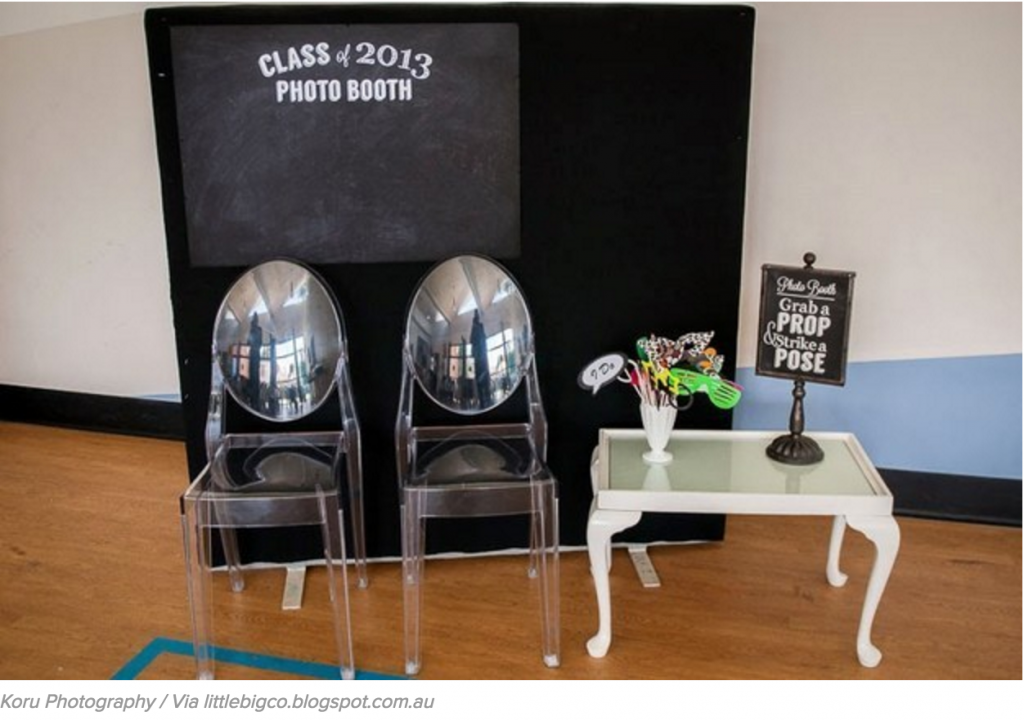 A college photo booth is perfect for a college grad party