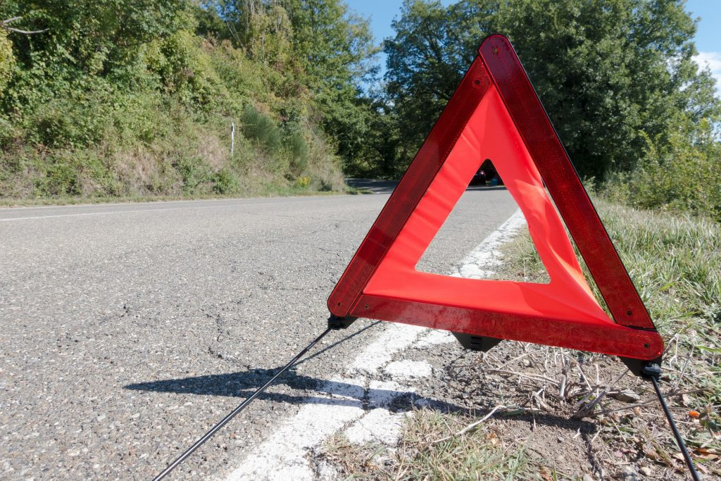 Reflective Warning triangle Change Your Tires