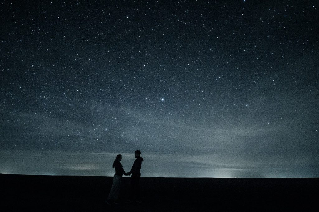 first date ideas stargazing