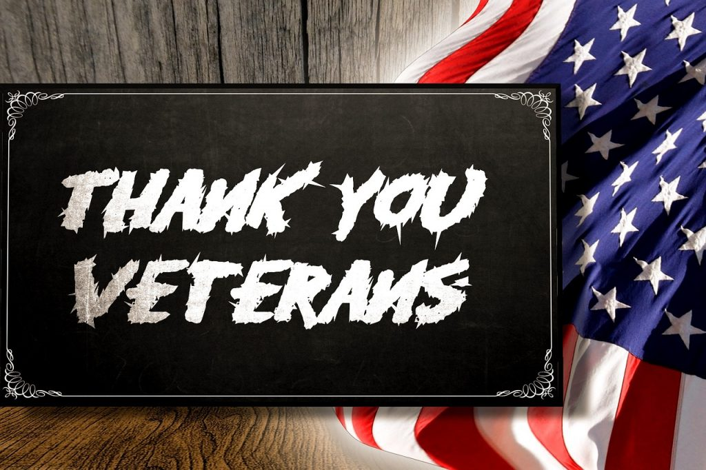 Thank You American Veterans American Flag