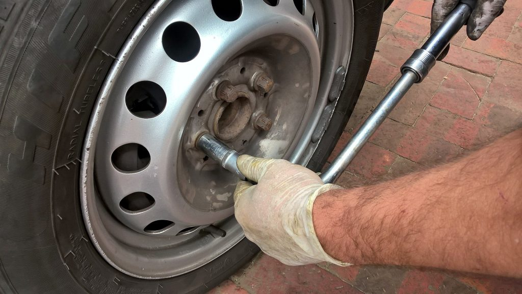 removing nuts when you change a tire