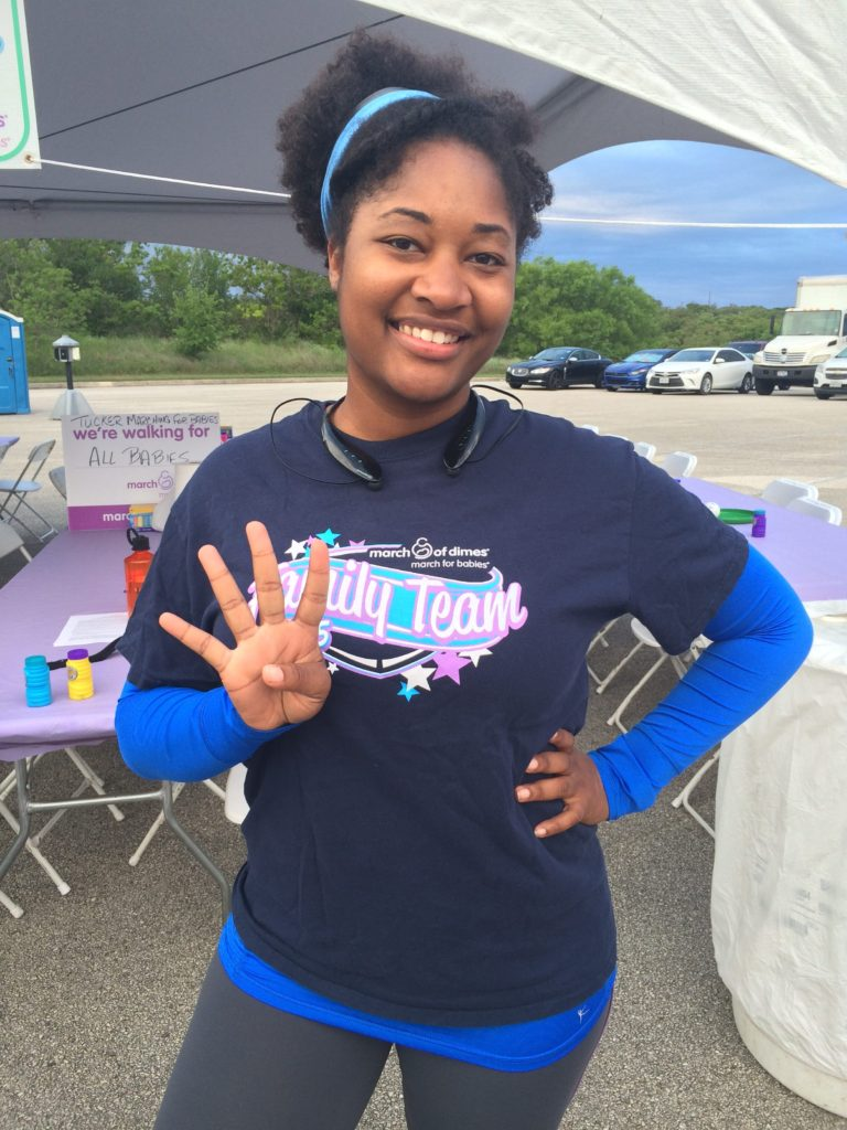 Jasmine running fourth 5k of 2015