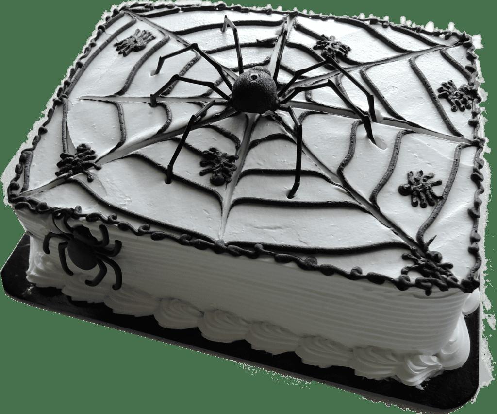 halloween spicer web cake