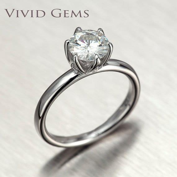 moissanite ring as engagement ring alternatives