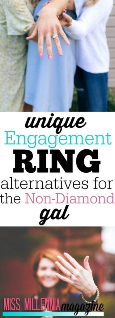 If you're a girl who wants to stray from the diamond engagement ring, here are some alternatives!