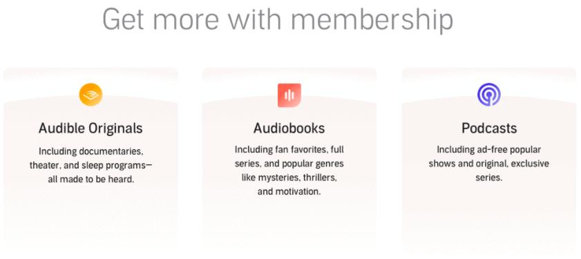 Audible membership perks