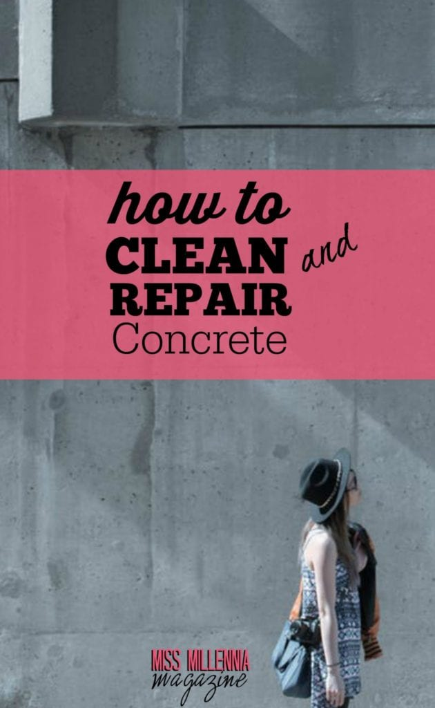 How to clean and repair concrete for What to clean concrete with