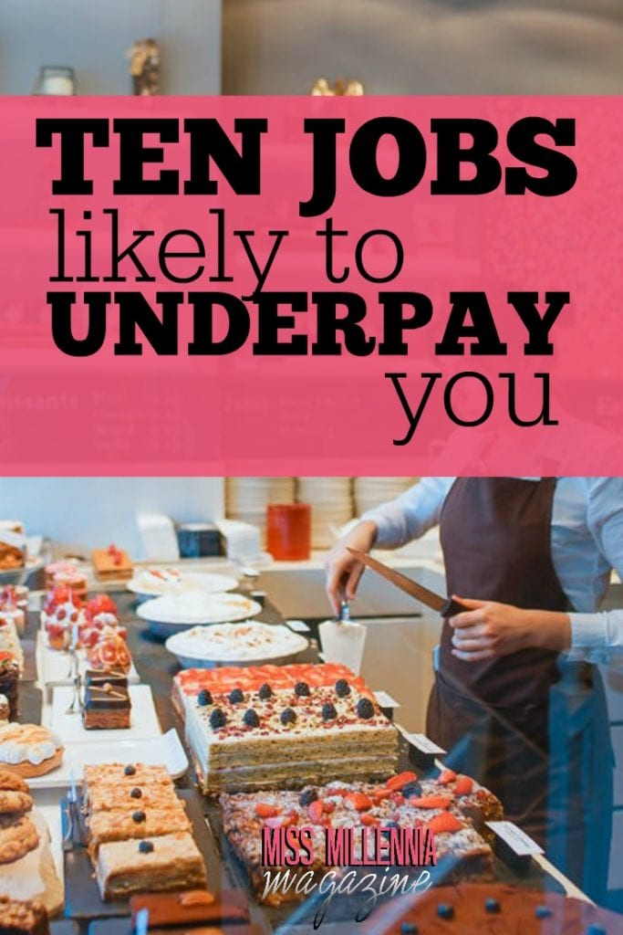 While the top-earning 10% of all Americans make $94,540 or more, the median annual job compensation is $37,040. Here are ten jobs likely to underpay you.