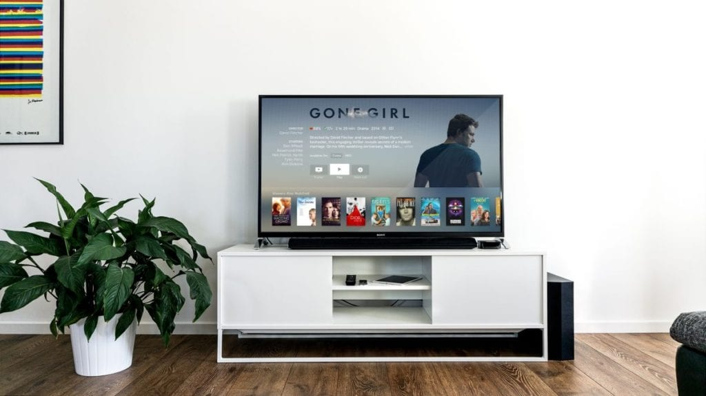 tv console in living room