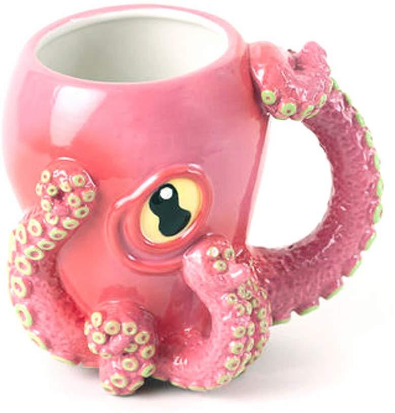 pink octopus mug