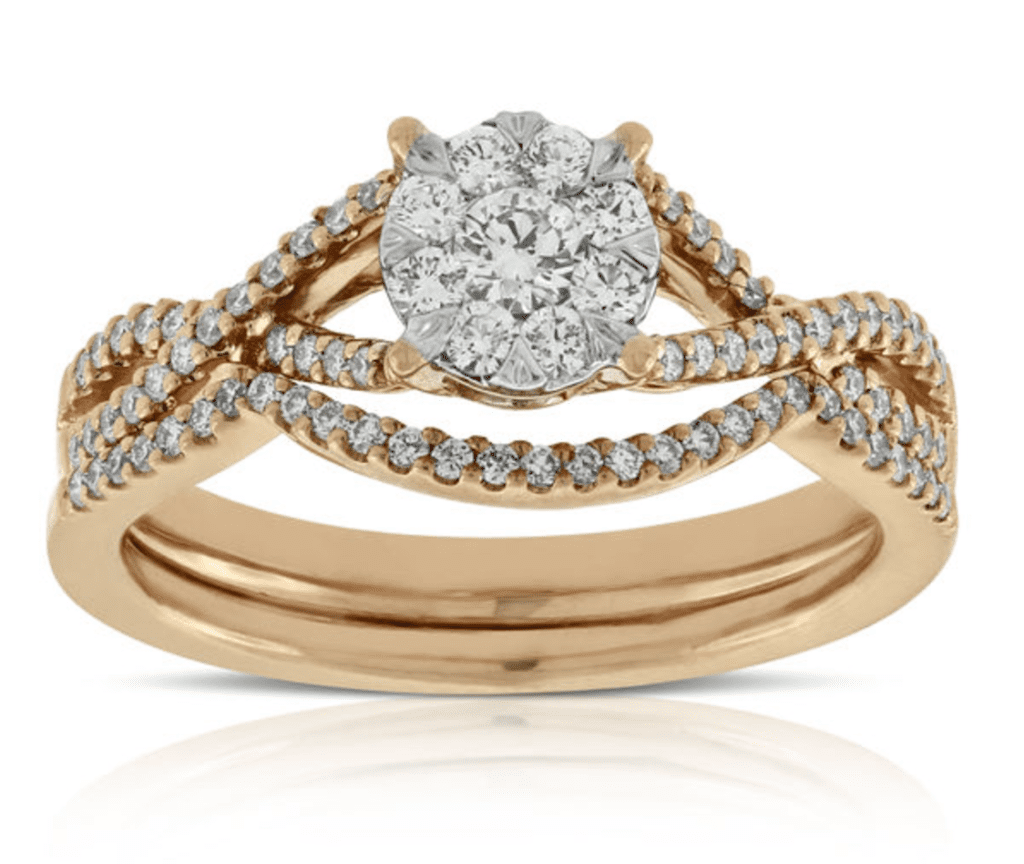 this is a perfect ring for a middle of the road bride