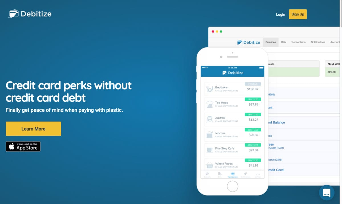 Debitize makes it easy to manage your money