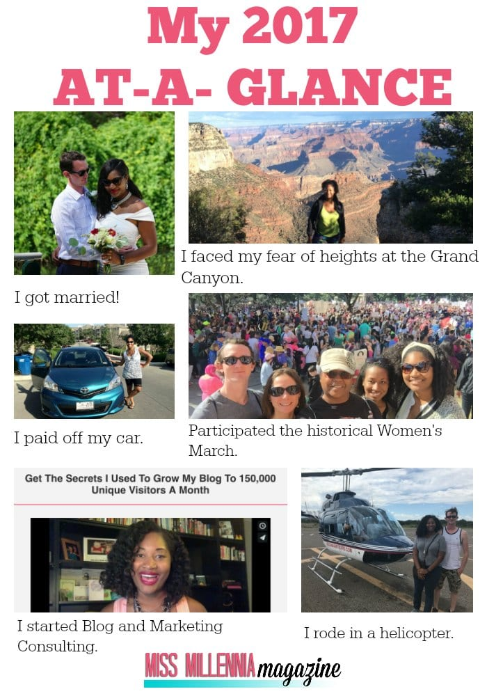 Jasmine Watts 2017 at a glance ; reflect on my goals