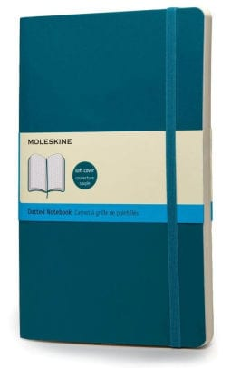 moleskin notebook with teal cover