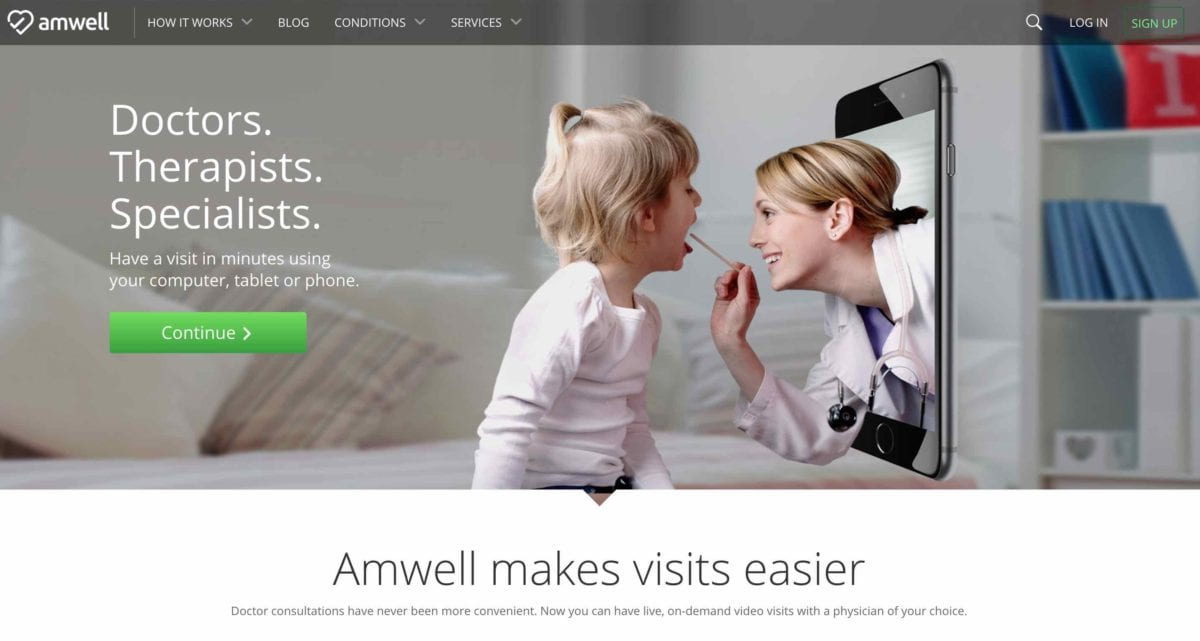 Amwell website