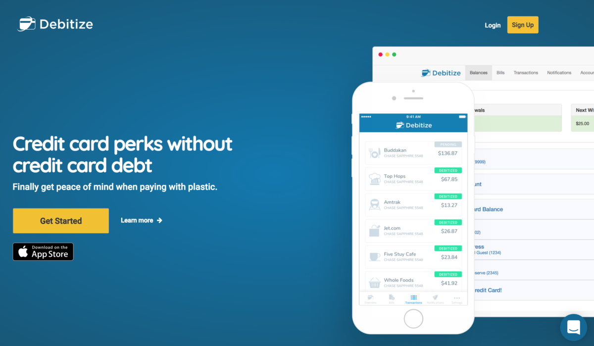 Debitize is a great tool to help you get the most out of your credit card