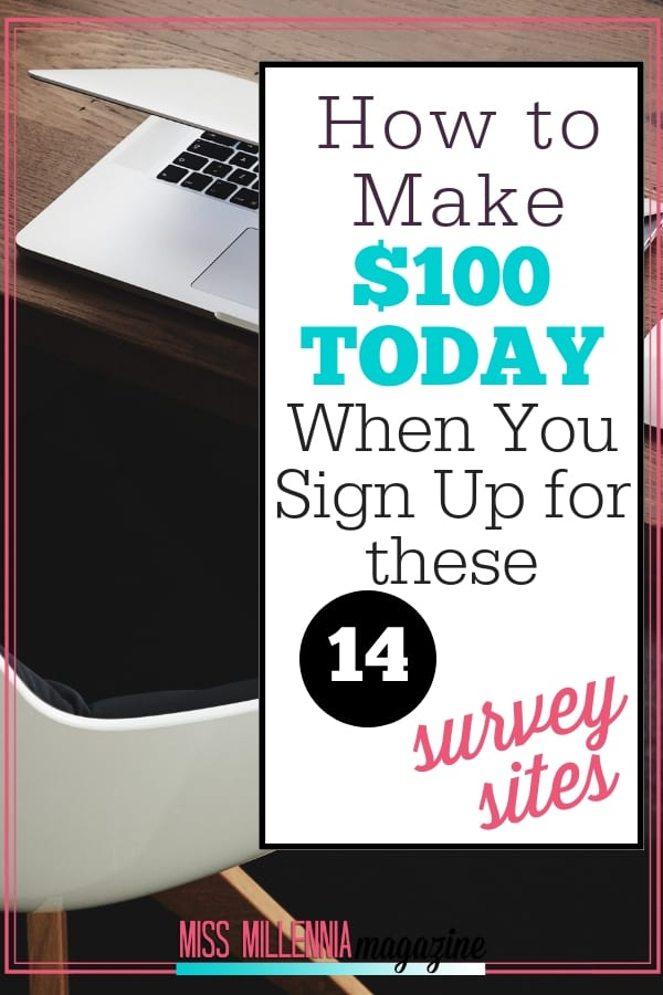 I've compiled a list of survey sites that not only pay you for completing surveys but also just for signing up with them. If you sign up for each of the survey sites below, you will have a total of $100 to start your survey journey. Check them out