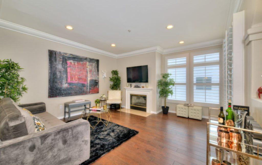 living room of a condo