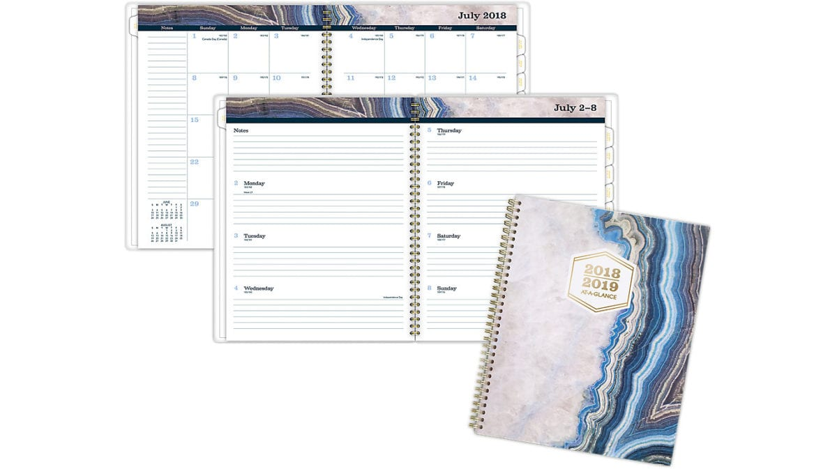 AT-A-GLANCE Sapphire Academic Weekly-Monthly Planner gift ideas for entrepreneurs