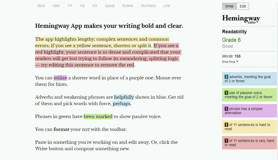 Hemmingway app a helpful app for creating College term papers