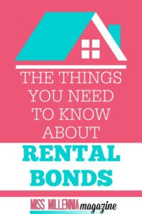 Rental Bond Things to know